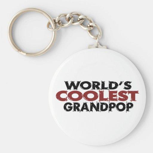 Mundos el Grandpop más fresco Llavero Redondo Tipo Pin