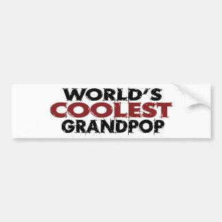 Mundos el Grandpop más fresco Pegatina Para Auto