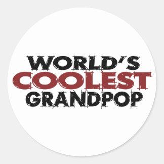 Mundos el Grandpop más fresco Pegatina Redonda