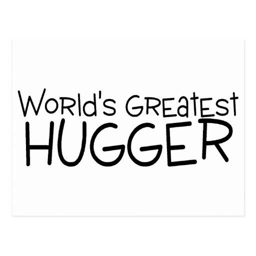 Mundos el Hugger más grande Postal