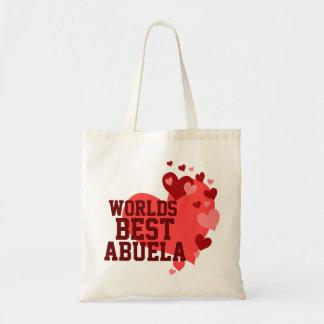 Mundos el mejor Abuela personalizado Bolsa Tela Barata