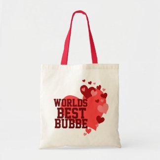 Mundos el mejor Bubbe personalizado Bolsa Tela Barata