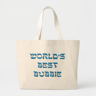 Mundos el mejor Bubbie Bolsa Tela Grande