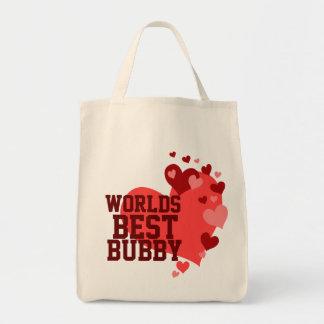 Mundos el mejor Bubby personalizado Bolsa Tela Para La Compra