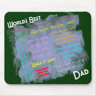 Mundos el mejor Dadism Mousepad