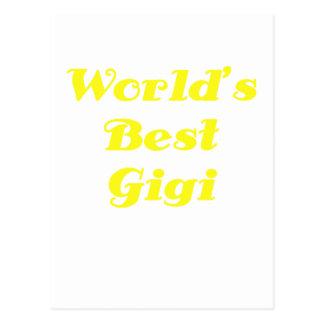 Mundos el mejor Gigi Tarjeta Postal