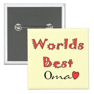 Mundos el mejor Oma--Regalos del día de madre Pin Cuadrada 5 Cm