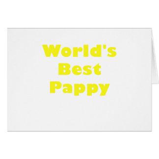 Mundos el mejor Pappy Tarjeta De Felicitación