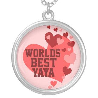 Mundos el mejor Yaya (o cualquier nombre) Colgante Redondo