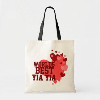 Mundos el mejor Yia Yia personalizado Bolsa Tela Barata