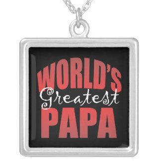 Mundos el Pap más grande Colgante Cuadrado