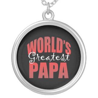 Mundos el Pap más grande Colgante Redondo