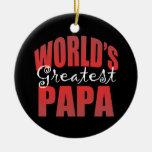 Mundos el Pap más grande Ornamento Para Arbol De Navidad