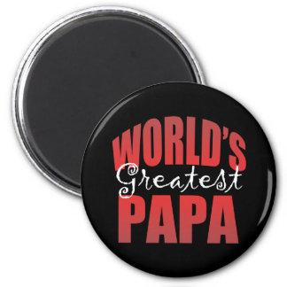 Mundos el Pap más grande Imán Redondo 5 Cm