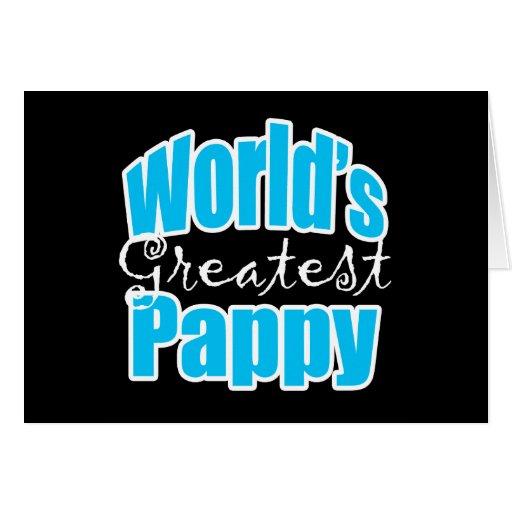 Mundos el Pappy más grande Tarjeta De Felicitación