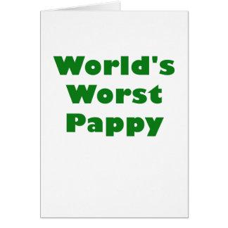 Mundos el Pappy peor Tarjeta De Felicitación
