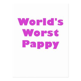 Mundos el Pappy peor Tarjeta Postal