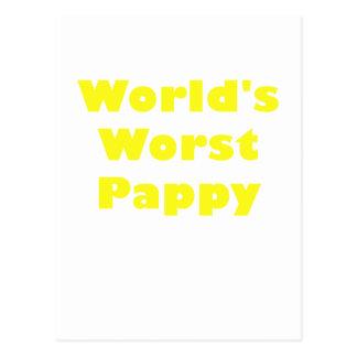 Mundos el Pappy peor Tarjetas Postales