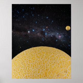 Mundos gemelos de Galia de la constelación Costco Impresiones