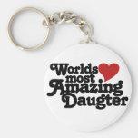 Mundos la mayoría de la hija asombrosa llaveros personalizados