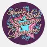 Mundos la mayoría del bailarín impresionante pegatinas