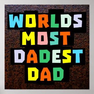 Mundos la mayoría del papá de Dadest Póster