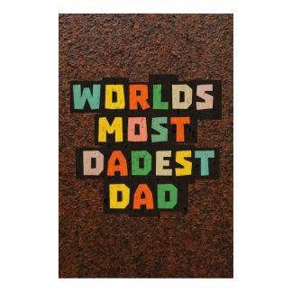Mundos la mayoría del papá de Dadest Papel De Corcho