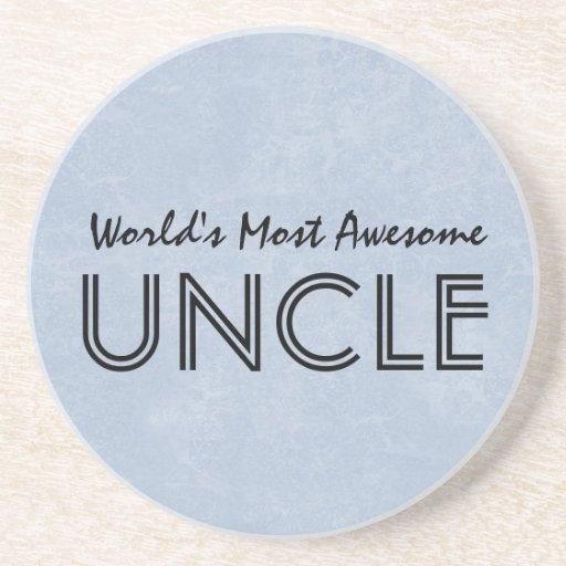 Mundos la mayoría del tío impresionante Blue Posavasos Diseño