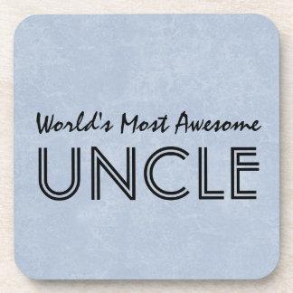 Mundos la mayoría del tío impresionante Blue Posavasos