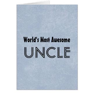 Mundos la mayoría del tío impresionante Blue Tarjeta De Felicitación
