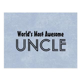 Mundos la mayoría del tío impresionante Blue Tarjetas Postales