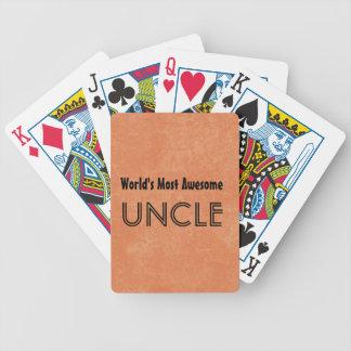 Mundos la mayoría del tío impresionante Home Gift  Cartas De Juego