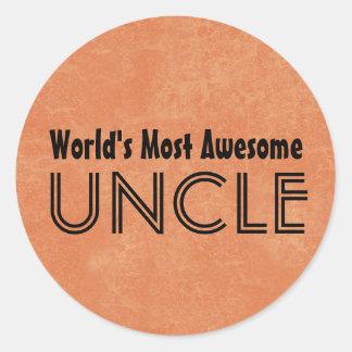 Mundos la mayoría del tío impresionante Home Gift Pegatina Redonda