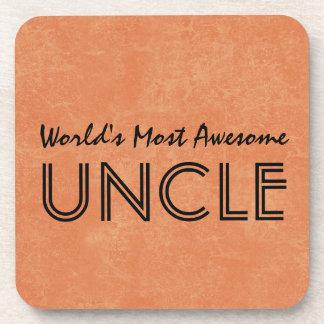 Mundos la mayoría del tío impresionante Home Gift Posavasos De Bebida