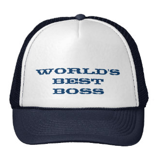 Mundos mejor Boss Gorro De Camionero