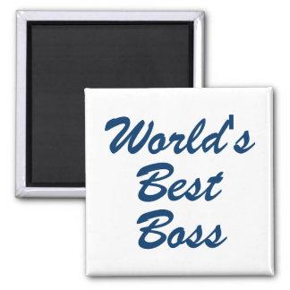 Mundos mejor Boss Imán Cuadrado