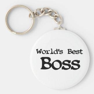 Mundos mejor Boss Llavero Redondo Tipo Pin