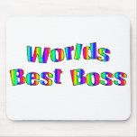 Mundos mejor Boss Mousepad Alfombrillas De Raton