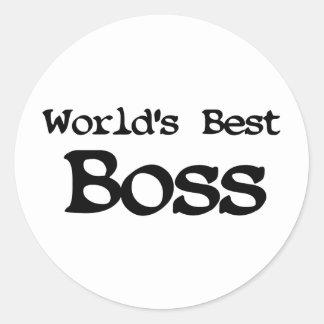 Mundos mejor Boss Pegatina Redonda