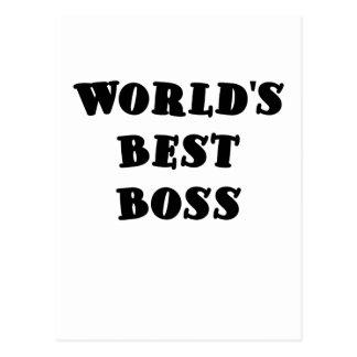 Mundos mejor Boss Tarjetas Postales