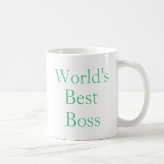 Mundos mejor Boss Taza Básica Blanca