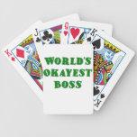 Mundos Okayest Boss Cartas De Juego