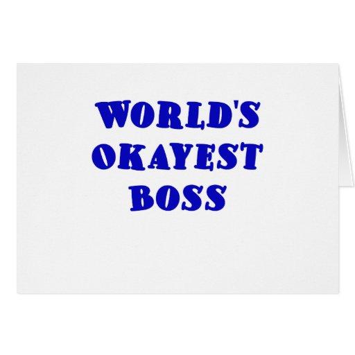 Mundos Okayest Boss Tarjeton