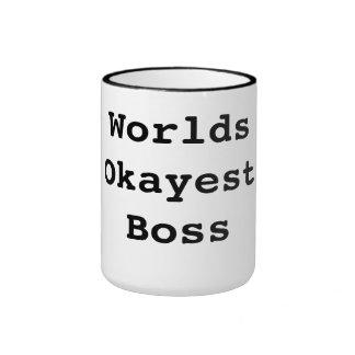Mundos Okayest Boss Taza De Dos Colores