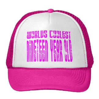 Mundos rosados el diecinueve más fresco de los die gorros bordados