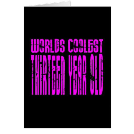 Mundos rosados los trece más frescos de los décimo tarjeton