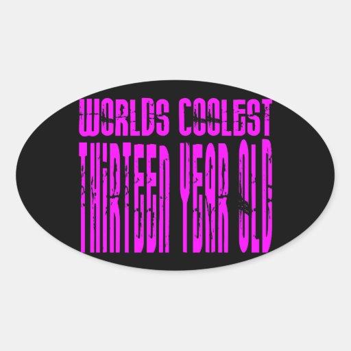 Mundos rosados los trece más frescos de los calcomanías ovaladas