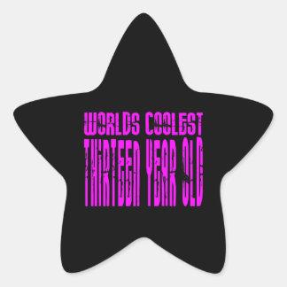 Mundos rosados los trece más frescos de los calcomania forma de estrella