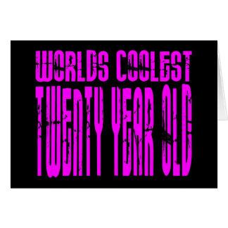 Mundos rosados los veinte más frescos de los vigés tarjeta de felicitación