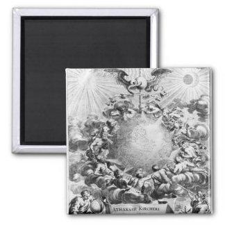 Mundus Subterraneus' by Athanasius Kircher 2 Inch Square Magnet